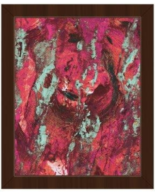 """Click Wall Art 'Tsekole Abstract' Framed Painting Print on Canvas ABS0016214FRA Size: 12.5"""" H x 10.5"""" W x 1"""" D Frame Color: Espresso"""
