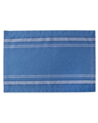 Design Imports French Chambray Placemats in Blue (Set of 6)