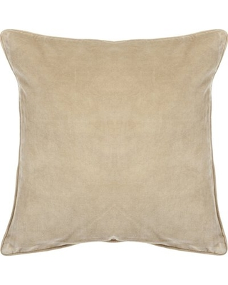 "Eleanor Textured Contemporary Cotton Throw Pillow Alcott Hill Size: 18"" H x 18"" W"