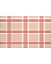 "Darby Home Co Reuben Plaid Print Throw Blanket DRBC6017 Size: 60"" L x 50"" W, Color: Burnt (Taupe/Coral)"