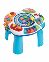 Letter Train and Piano Activity Table - Baby Blue