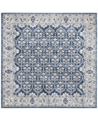 """Safavieh Brentwood Navy and Light Gray 6'7"""" x 6'7"""" Square Area Rug"""