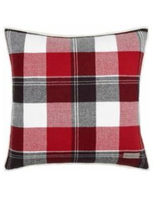 Eddie Bauer Dark Red Lodge Throw Pillow