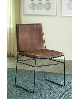 ConCo Upholstered Dining Chairs Vintage Brown And Dark Gunmetal (Set Of 2)