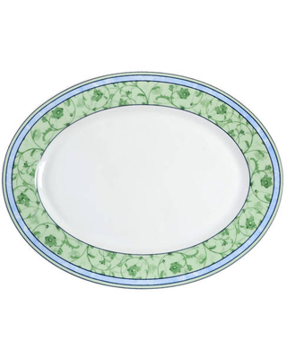 """Wedgwood Watercolour 14"""" Oval Serving Platter"""