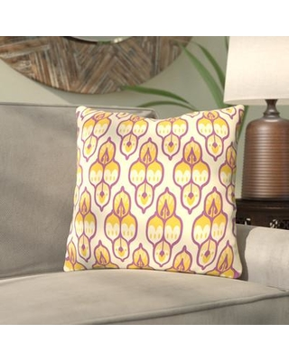"Bungalow Rose Amann Turkish Cara Kozik Throw Pillow BNGL7989 Color: Yellow/Purple Size: 20"" H x 20"" W x 2"" D"