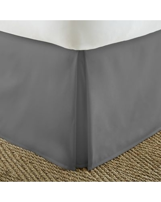 Home Collection Pleated Full Bed Skirt in Grey