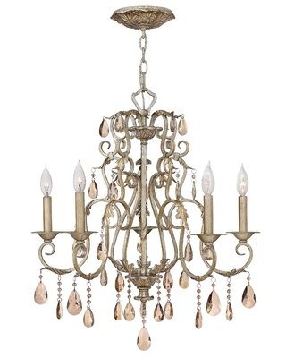 Hansel Candle Style Traditional Chandelier with Crystal Accents