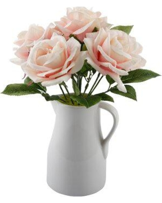 Ophelia & Co. Roses Floral Arrangements and Centerpieces in Vase W001454152 Color: White