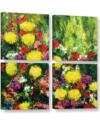 """Darby Home Co Savannah 4 Piece Painting Print on Wrapped Canvas Set DRBC2954 Size: 48"""" H x 48"""" W x 2"""" D"""