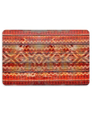 "FoFlor Native Wood 23"" x 36"" Kitchen Mat in Red"
