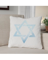 """The Holiday Aisle Star of David Throw Pillow THLY3296 Size: 16"""" x 16"""""""