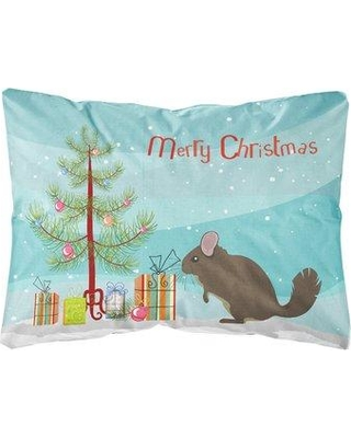 The Holiday Aisle Laussat Chinchilla Christmas Indoor/Outdoor Throw Pillow BI148597