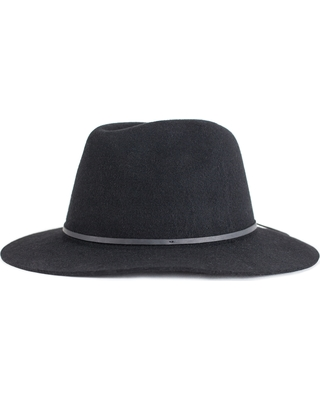 Special Prices on Women s Brixton  Wesley  Wool Fedora - Black 3e75e9d299a7