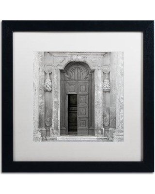 "Trademark Art 'Tuscany VII' Framed Photographic Print ALI5165-B1 Mat Color: White Size: 16"" H x 16"" W x 0.5"" D"