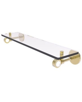 Allied Brass Clearview Collection Glass Shelf (Unlacquered Brass - 22 Inch)