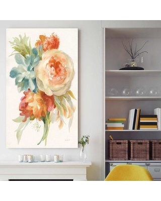 """House of Hampton 'Autumn Garden Bouquet I' Acrylic Painting Print on Canvas BF137696 Size: 51.5"""" H x 31.5"""" W x 2"""" D Format: Wrapped Canvas"""