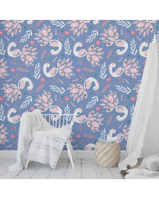 Spectacular Sales For Peacock Blue Peel And Stick Wallpaper By Kavka Designs 2 X 16 2 X 16