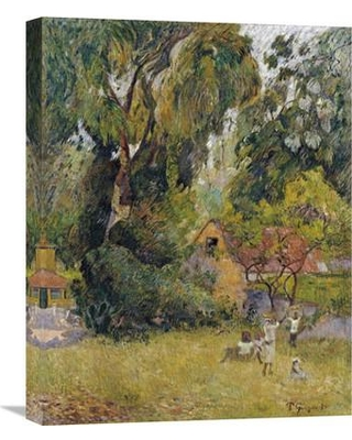 """Global Gallery 'Huts Under the Trees' by Paul Gauguin Painting Print on Wrapped Canvas GCS-266365-22-142 / GCS-266365-30-142 Size: 30"""" H x 23.51"""" W x 1.5"""" D"""