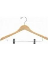 Only Hangers Inc. Contoured Wooden Suit Hanger with Clip NH401-100 / WH401-100 Finish: Natural