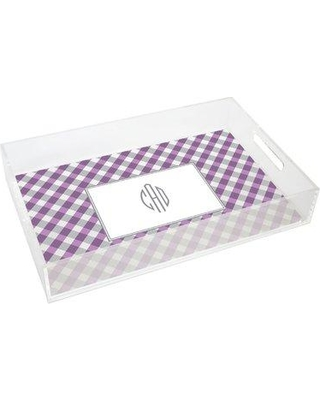Kelly Hughes Designs Everyday Tabletop Gingham Lucite Tray tray925
