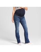 Maternity Crossover Panel Bootcut Jeans - Isabel Maternity by Ingrid & Isabel Medium Wash 00, Women's, Blue