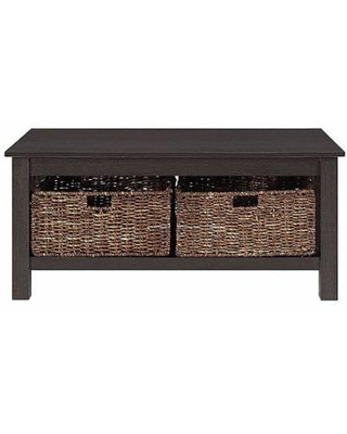 Mission Storage Coffee Table with Baskets, One Size , Brown