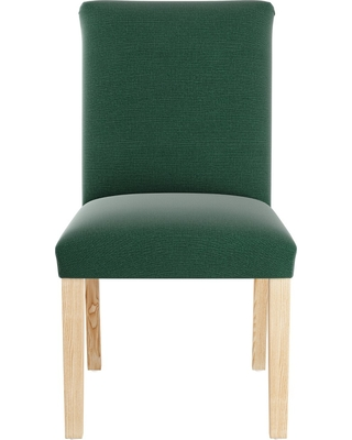 Spectacular Deal on Dining Chair Linen Conifer Green Skyline Furniture