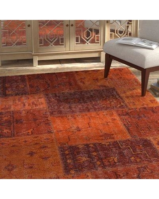 Bloomsbury Market Casselman Patterned Contemporary Orange Area Rug BLMT8267 Rug Size: Rectangle 9' x 13'
