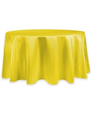 Duchess Lamour Satin 60-Inch Round Tablecloth in Yellow
