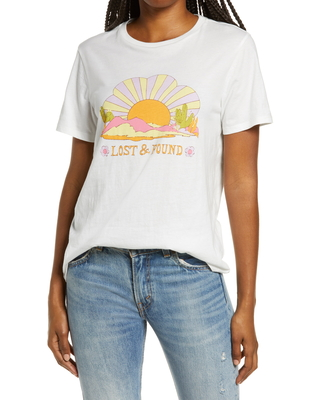 Women's Ban. do Lost & Found Classic Graphic Tee, Size XX-Large - Ivory