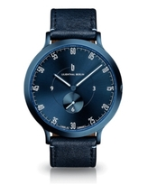 Lilienthal Berlin L1 All Blue Leather Watch 42mm