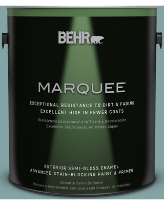 BEHR MARQUEE 1 gal. #MQ6-07 Schooner Semi-Gloss Enamel Exterior Paint and Primer in One