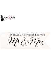 Mr. & Mrs. Bubble Favor Tags