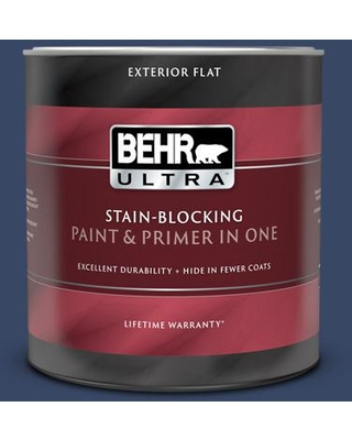Amazing Savings On Behr Ultra 1 Qt Mq5 14 Bon Nuit Flat Exterior Paint And Primer In One