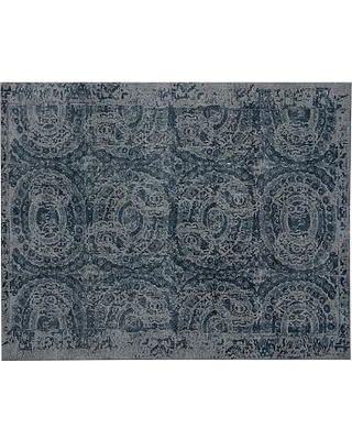 Spectacular Sales For Bosworth Printed Wool Rug 8x10 Blue