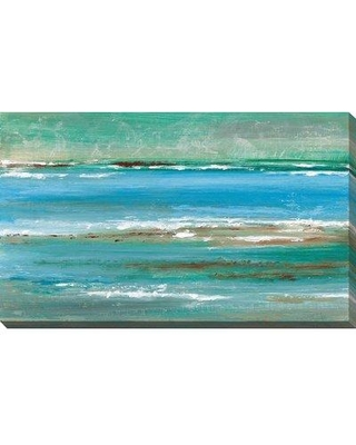 """Highland Dunes 'Tidal Pool II' Acrylic Painting Print on Canvas BF104008 Size: 36"""" H x 60"""" W x 1.5"""" D"""