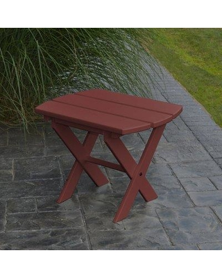 Millwood Pines Anika Folding Plastic Side Table X111245151 Color: Cherry Wood