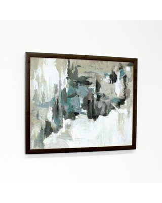 """Ebern Designs 'Calm Before The Storm' Framed Graphic Art Print on Canvas BF183182 Format: Walnut Canvas Image Box Size: 14"""" H x 11"""" W x 1.25"""" D"""