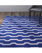 Wrought Studio Uresti Decorative Holiday Geometric Print Royal Blue Indoor/Outdoor Area Rug VRKG4498 Rug Size: Rectangle 2' x 3'