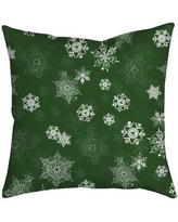 SafiyaJamila Holiday Treasures Throw Pillow UltiSnow_ Color: Green
