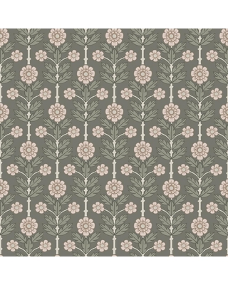 MANHATTAN COMFORT INC Whittier Aya Grey Floral Paper Strippable Wallpaper Roll (Covers 56.4 sq. ft.)