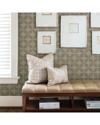 """Foundry Select McDuffie 33' L x 20.5"""" W Wallpaper Roll X112886776 Color: Brass"""