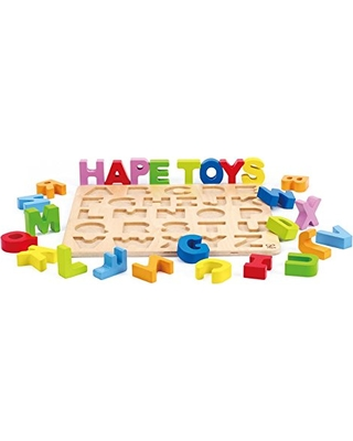 Hape Alphabet Stand Up Kid's Wooden Learning Puzzle