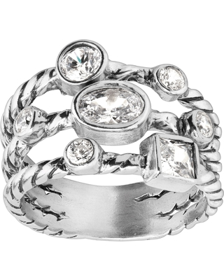 Silpada 'Misty Valley' Cubic Zirconia Ring in Sterling Silver