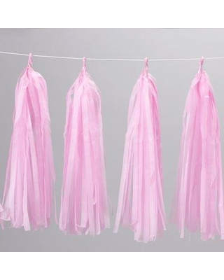 Bala Ceiling Fans Tassel Paper Disposable Centerpieces and Hanging Decor (Set of 12) 35-0100 Color: Pink