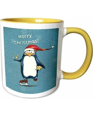 Shopping Special For Symple Stuff Hundley Cute Merry Christmas Ice Skating Santa Penguin Holding Stars W Snowflakes Holiday Xmas Greeting Coffee Mug Ceramic Wayfair