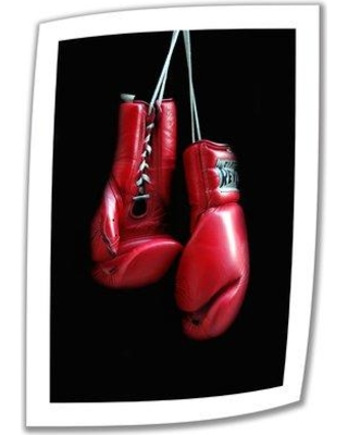 """ArtWall 'Red Gloves' by Dan Holm Photographic Print on Rolled Canvas DH-25 Size: 52"""" H x 36"""" W"""