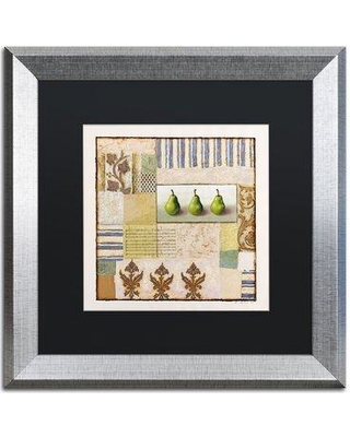 """Trademark Art 'Three Standing Pears' Rachel Paxton Framed Painting Print on Canvas ALI2522-S1 Matte Color: Black Size: 16"""" H x 16"""" W x 0.5"""" D"""
