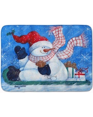 The Holiday Aisle Snowman Come Ride With Me Memory Foam Bath Rug THLA5341